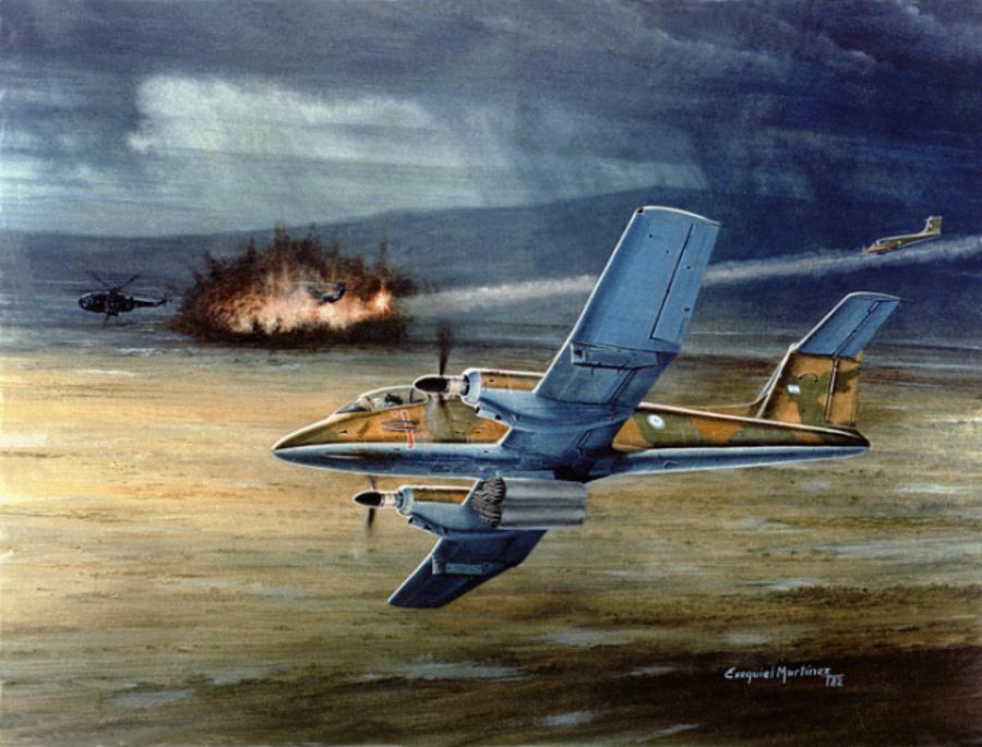 Pucara Malvinas War Exequiel Martinez